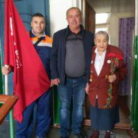 Установка флагов и посещения ветеранов